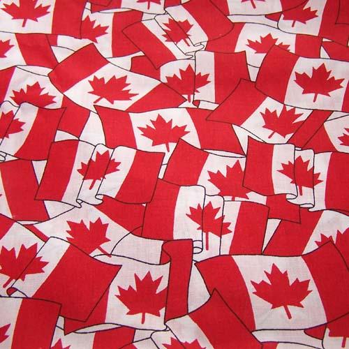 Une propagande de drapeaux canadien
